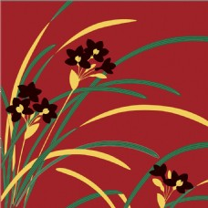 红色水仙花花纹背景图