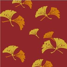 对称叶子花纹无缝背景图