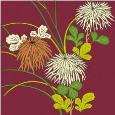 花草植物花纹背景图