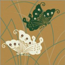 黄色蝴蝶花纹无缝背景图