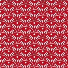 红色花纹无缝背景图