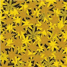 金黄色叶子花纹无缝背景图