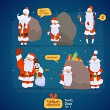 圣诞老人拖着大礼包
