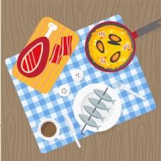 美味的西餐插画