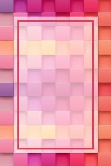 矢量几何方块方形拼接背景