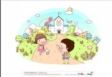 快乐儿童插画