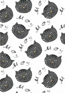 英文字母卡通貓組合背景圖