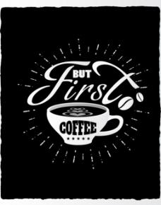 咖啡杯黑色广告背景