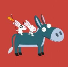 卡通小毛驴