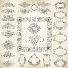 花边装饰元素矢量素材