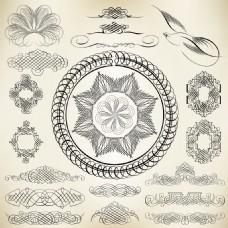 花朵装饰元素矢量素材