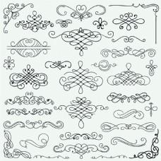花边装饰花纹元素矢量素材