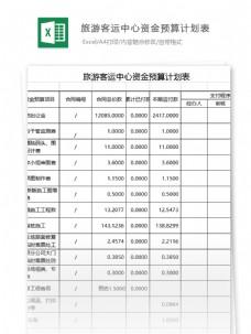 客运中心资金预算计划表excel表格模板