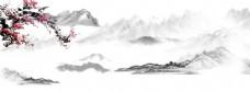 中国风水墨梅花背景图