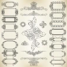 边框装饰元素矢量素材