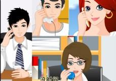 办公室职业人物取文件动画
