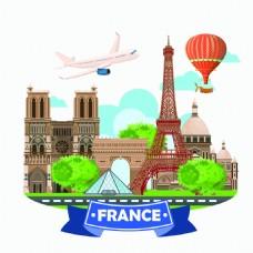 旅游旅行氢气球矢量素材