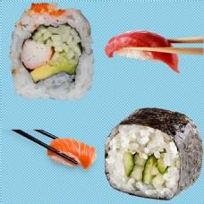 四块寿司免抠png透明图层素材