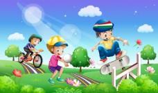 儿童运动插画