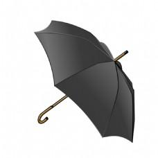 黑色雨伞遮阳元素