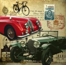 欧美复古汽车 装饰画