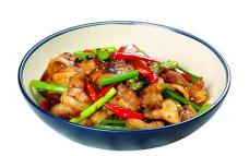 美食小米椒盐煎肉