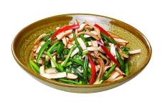 美食韭菜炒香干