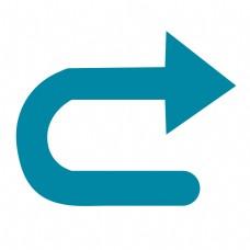 右转弯符号_转弯箭头0110-标识符号图-标识符号图库-图行天下素材网
