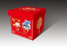 喜铺红色礼盒包装设计