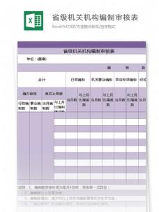 省级机关机构编制审核表excel模板