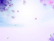 紫色梦幻花朵背景