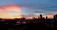 夕阳下的建筑