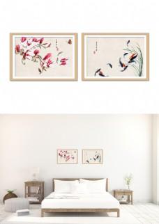中国风花鱼典雅装饰画