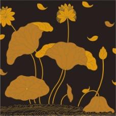 黄色荷花背景图