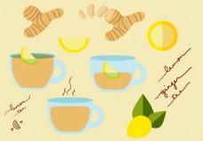 姜茶矢量素材