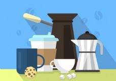 咖啡机矢量素材