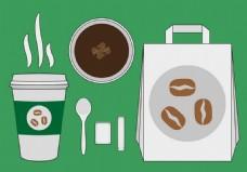 咖啡包装矢量素材