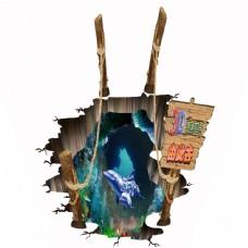 3d立体卡通海底世界墙画壁画背景墙