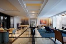 欧式酒店会客厅装修效果图