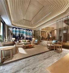 3D渲染大气现代客厅效果图