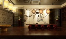 个性酒店办公室空间模型3d渲染图