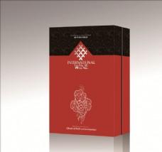嘉联酒结婚礼盒平面展开图