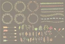 可爱清新手绘几何边框装饰矢量素材