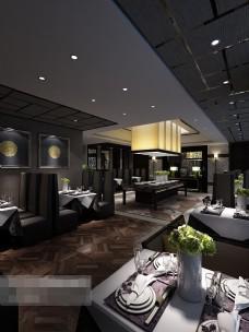潮流餐厅模型
