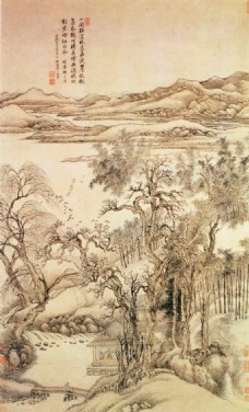 秋树昏鸦图背景墙