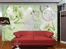 个性时尚沙发背景墙模板