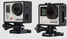 GoPro运动相机免抠png透明图层素材
