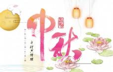 中秋节字体灯笼元素