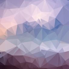 三角低多边形背景矢量素材