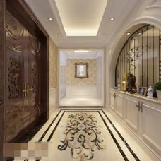 简约风格酒店空间渲染效果图